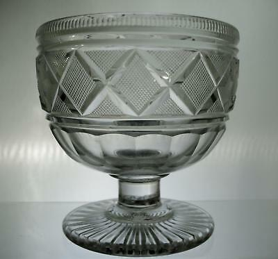 Pittsburgh Style Flint Glass Footed Glass Bowl