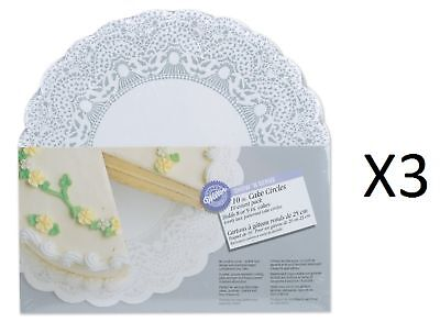 """Wilton 10"""" Show 'N Serve Cake Board 10 Pack Display Plate Dish Tray (3-Pack)"""