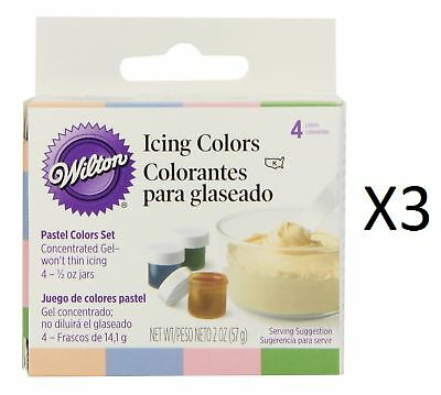 WILTON Icing Color Kit food coloring gel 4 Pastel Colors Easter