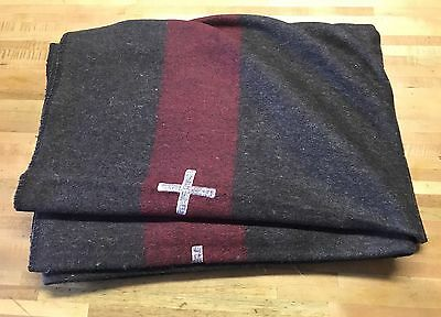 Swiss Army Wool Blanket reproduction  Extra Heavy weight 5.9 Pounds