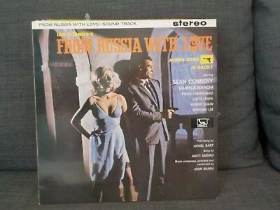 John Barry From Russia With Love James Bond Film Soundtrack Vinyl Lp