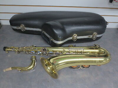 Yamaha YTS-23 Tenor Saxaphone with Case/ Works fine - many scratches