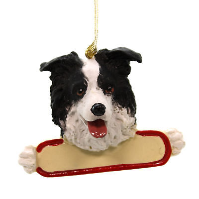 Personalized Ornaments BORDER COLLIE Polyresin Dog 2185