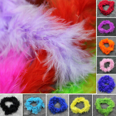 Thick Various Colors Marabou Feather Boa For Fancy Dress Party Burlesque Boas 2M