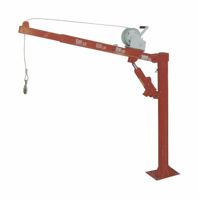 500/1000# Pickup Truck Cherry Picker Hydraulic Crane Swivel Hoist With A Winch