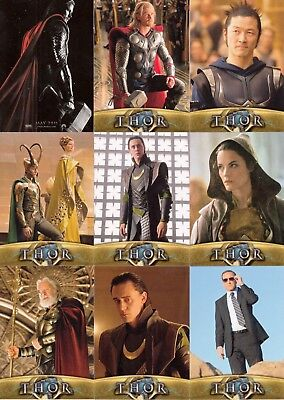 Thor The Movie 2011 Upper Deck Complete Base Card Set Of 81 Marvel