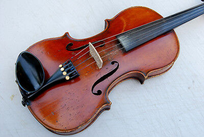 JOSEPH GUARNERIUS FECIT CREMONAE ANNO 1738 IHS ANTIQUE TIGAR MAPLE VIOLIN w CASE