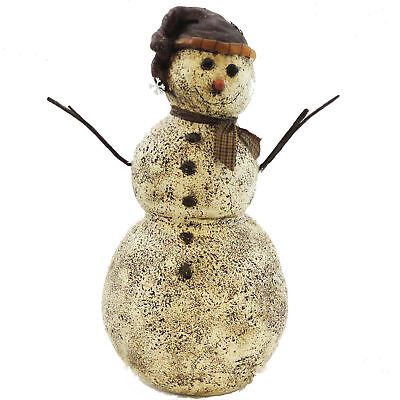 Christmas SNOWMAN WITH TWIG ARMS Resin Salem Winter Holiday 35003