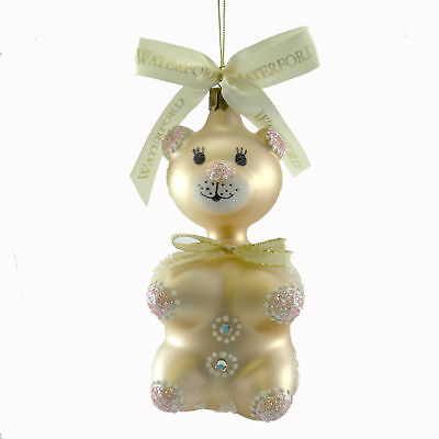 Holiday Ornament GINGERBREAD TEDDY  Glass Christmas Holiday Heirlooms 139124