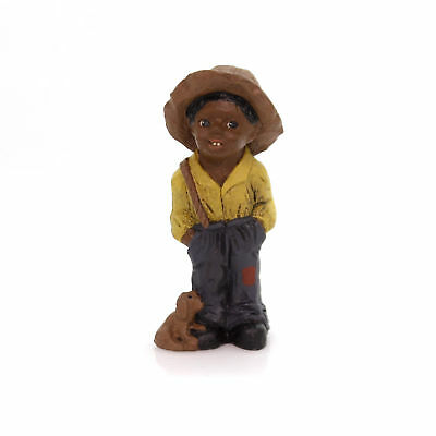"""All Gods Children TOBY 3.5"""" Polyresin African American Dog Overalls 1332"""