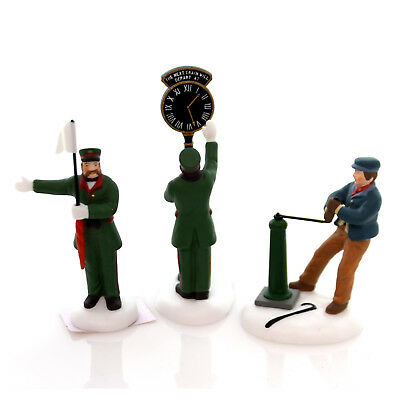 Department 56 Accessory BUSY RAILWAY STATION Porcelain Dickens Heritage 58464