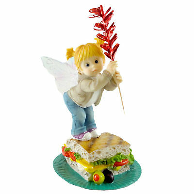 Kitchen Fairies GRILLED PANINI FAIRIE Resin Healthy Food 4029548