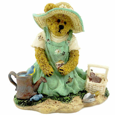 Boyds Bears Resin TILLY B GARDENBEARY SOWING SEEDS Polyresin Bearstone 4027337