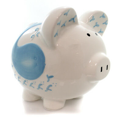 Bank WILLY THE WHALE PIGGY BANK Ceramic Ocean Octopus 36863