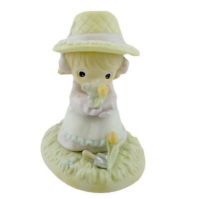 Precious Moments LORD LET OUR FRIENDSHIP BLOOM Porcelain Mouse Flowers 879126