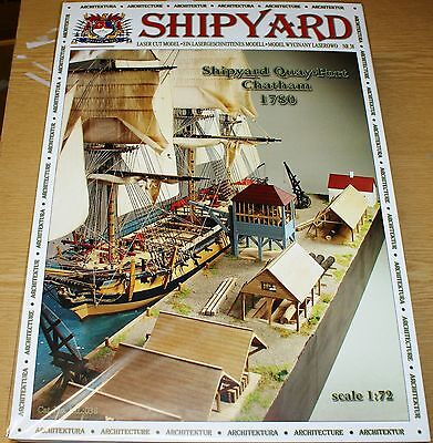 Hafenset Port Chatham 1780 Papier/Lasercut in 1/72 von Shipyard