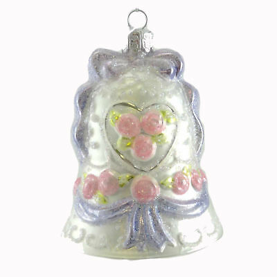 Noble Gems WEDDING BELL Glass Ornament Marriage C4575 PURPLE