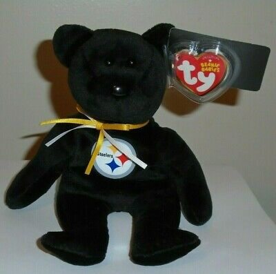 Ty Beanie Baby ~ PITTSBURGH STEELERS the NFL Football Bear 8