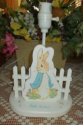 Peter Rabbit And His Picket Fence Lamp