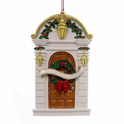 Holiday Ornaments HOLLY DOOR Polyresin First New Home Christmas 16.