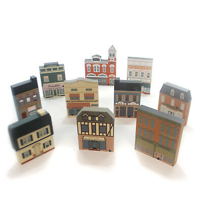 Cats Meow Village SERIES VIII SET / 10 Wood Retired Series Viii 8 Series Viii