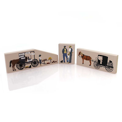 Cats Meow Village AMISH ACCESSORIES SET / 3 Wood Retired Amish Set #5