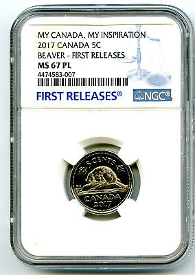 2017 Canada 5 Cent Nickel Ngc Ms67 Pl Beaver My Inspiration First Releases