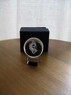 Laser Etched 'St George's Dragon' Crystal Ball & Stand - 40 mm