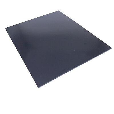 "US Stock 1pc 3mm x 7.87"" x 9.84"" Black ABS Styrene Plastic Flat Sheet Plate"