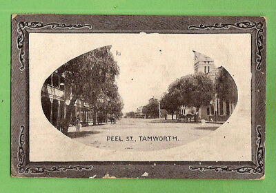#g. Australiana Postcard - Peel  Street, Tamworth, About 1910