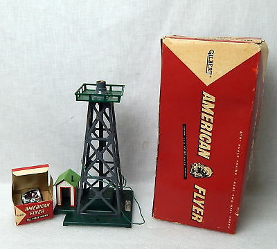 Vintage American Flyer S Scale No 769A Aircraft Beacon Airport Tower w/ Box