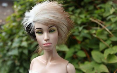 ~Fun, Genuine Mink and Stone Marten Fur Wig for Sybarite dolls~by dimitha~