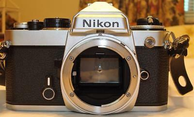 Nikon FE SLR 35MM Film Camera Body Only FOR PARTS OR REPAIR As Is