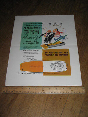PEZ ad sheet Personalized REGULAR 1957 proof copy