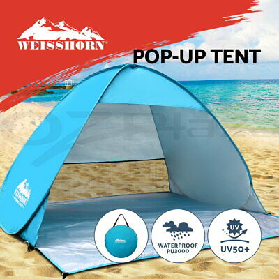 WEISSHORN Pop Up Camping Tent Beach Hiking Sun Shade Shelter Fishing 4 Person