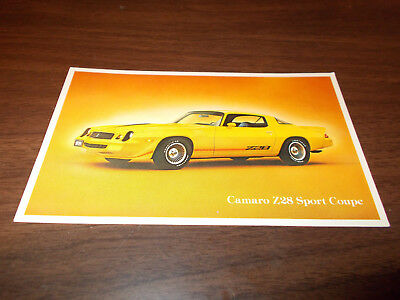 1979 Chevrolet Camaro Z28 Sport Coupe Original Advertising Postcard