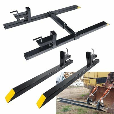 "43''/60"" Clamp on 1500 lbs Capacity Pallet Forks Loader Bucket Skidsteer Tractor"