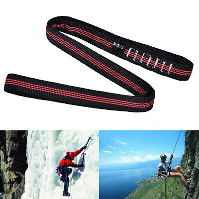 25KN Safety Rock Tree Climbing Express Quickdraw Sling Webbing Rope Strap Cord