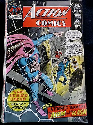 Superman Action Comic Book #406 Very Clean  Dc Good Condition