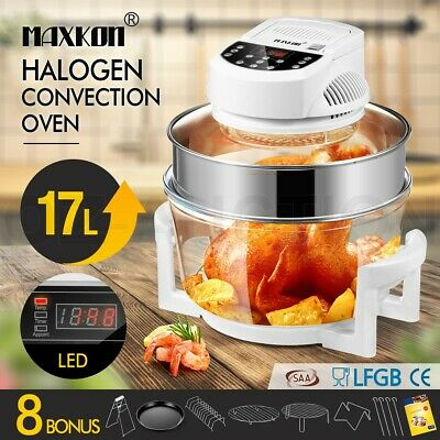 17L Halogen Convection Oven Cooker Electric Air Fryer 3Hr-Timer & LED Screen WH