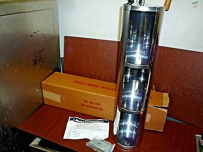L Model Wall Mount Stainless Steel Triple Sections Lid Dispenser