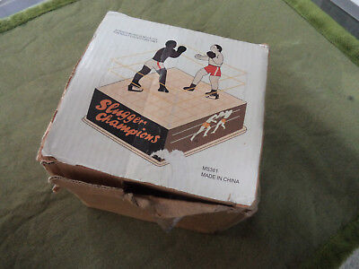 #dd. Boxed Windup  Tin Toy Boxers In  Boxing Ring