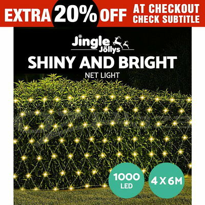 4m x 6m LED Net Mesh String Lights Christmas Fairy Party Wedding Indoor Outdoor
