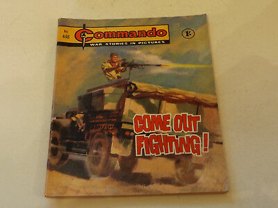 Commando War Comic Number 448,1969 Issue,v Good For Age,48 Years Old,very Rare.