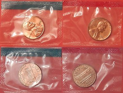 Proof Like 1963 P & D US Lincoln 1 Cents Sealed in Cellos