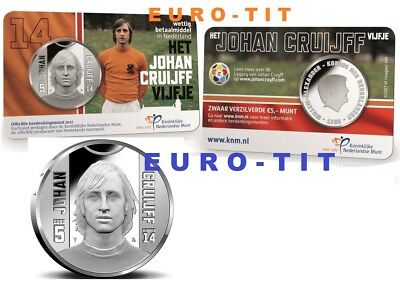 PIECE  5  EURO  PAYS BAS  50 000  EX  COINCARD  2017     J. CRUIJFF   disponible