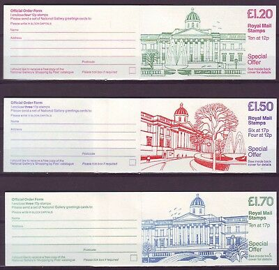 QE II GB 1986 3 Booklets FT6 FP2 FJ5  NATIONAL GALLERY MNH VERY LOW SHIPPING