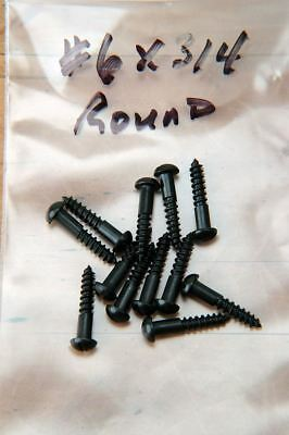 "Wood Screws Round Head Slotted Black Oxide #6 x 3/4"" WSBROUND634"
