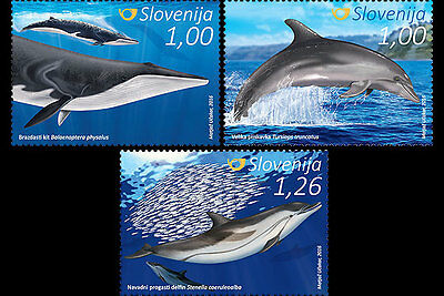 Slovenia 2016 - Dolphins and Whales stamp set mnh