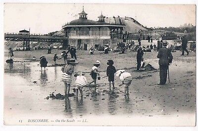 Wiltshire - On The Sands, Boscombe. Ll. No.12. 1908